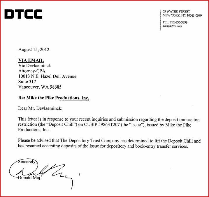 MIKP regains DTCC eligibility