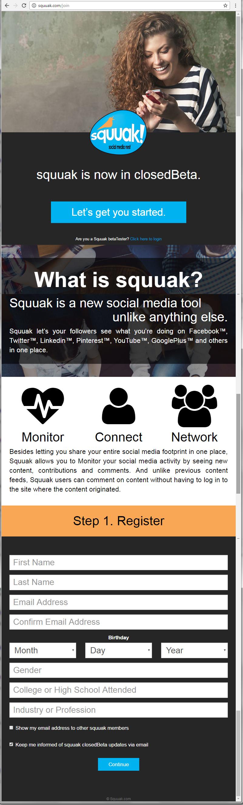 squuak social media nest