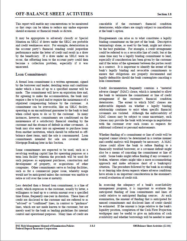 risk management manual of examination policies