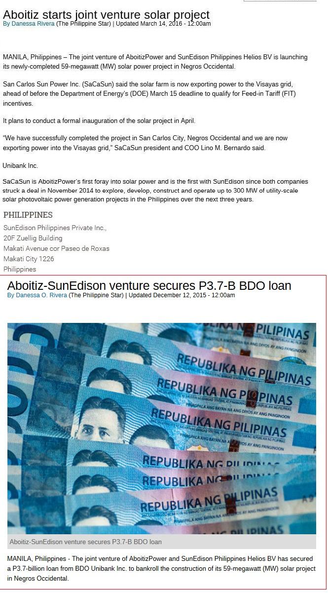 Sunedison Inc. (fka SUNEQ) Message Board - InvestorsHub