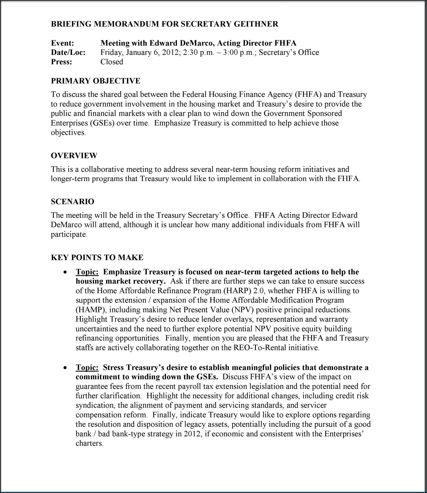 briefing memo Briefing memorandum to: gino grimaldi : from: len goodwin, dpw director tom boyatt, dpw community development manager subject.