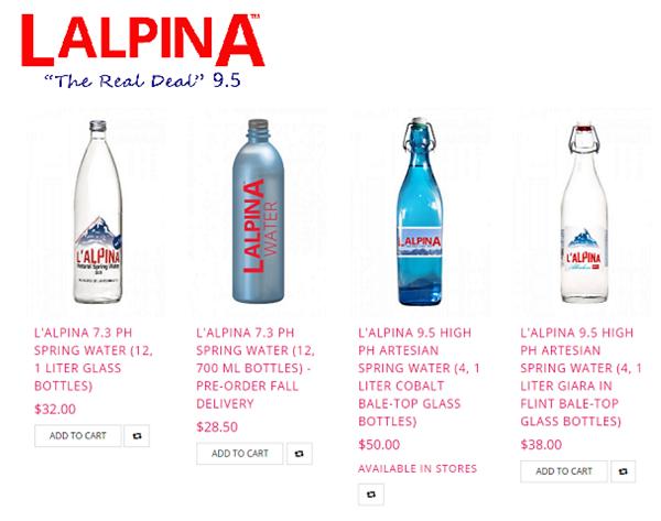 alfred culbreth announces l alpina spring water