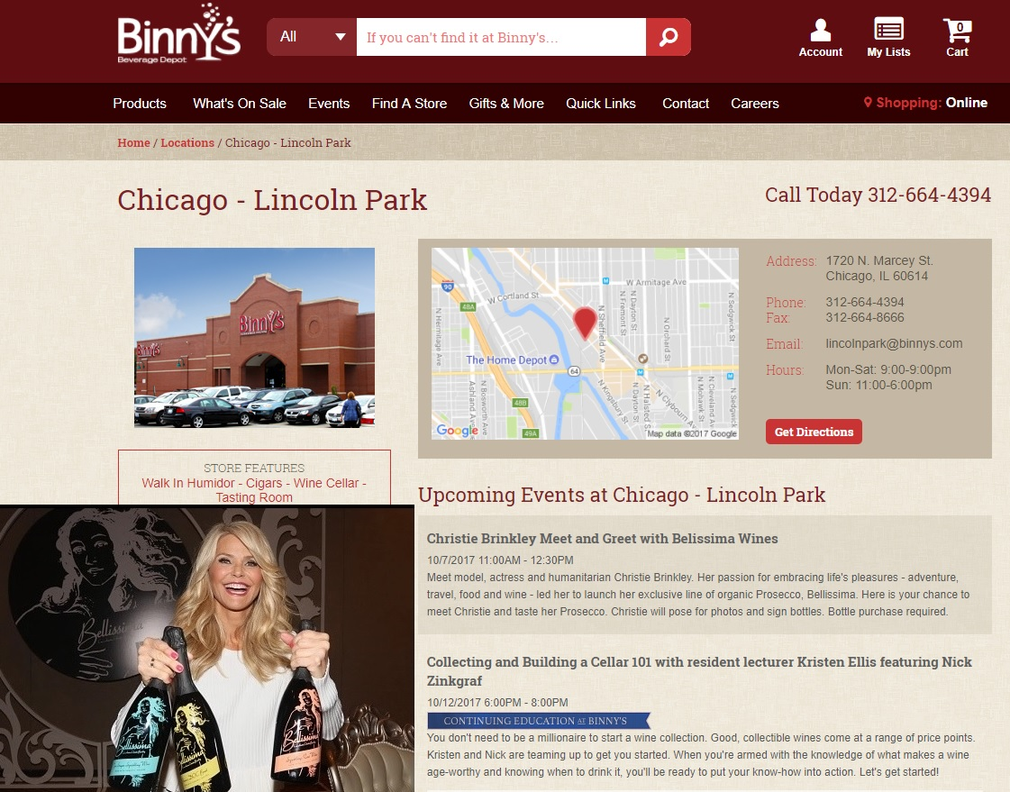 Bbs stock haven supermodel christie brinkley promoting icnbs httpbinnyslocationchicago lincolnpark geenschuldenfo Images