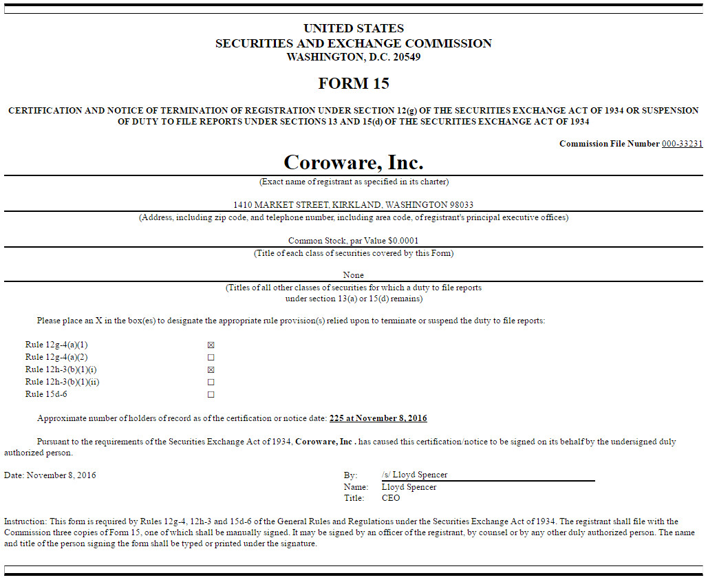 Form 15