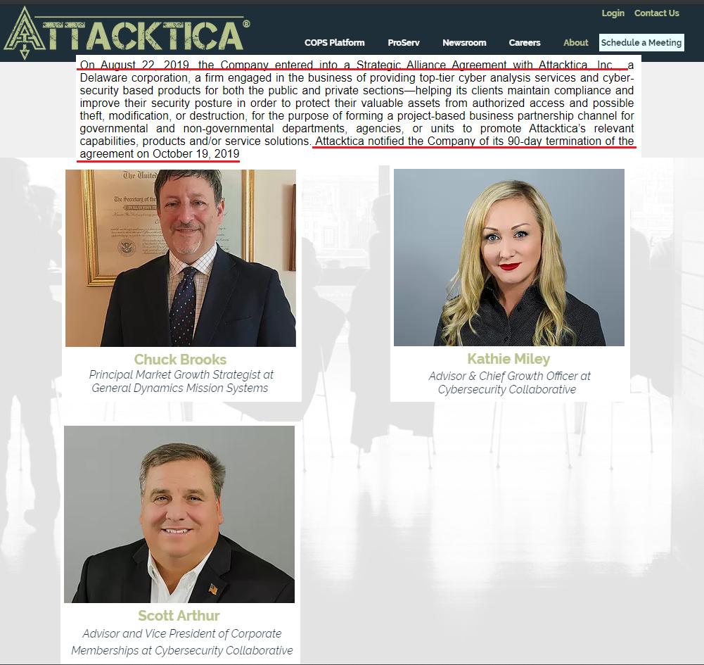 Attacktica terminates Strategic Alliance with Bravatek