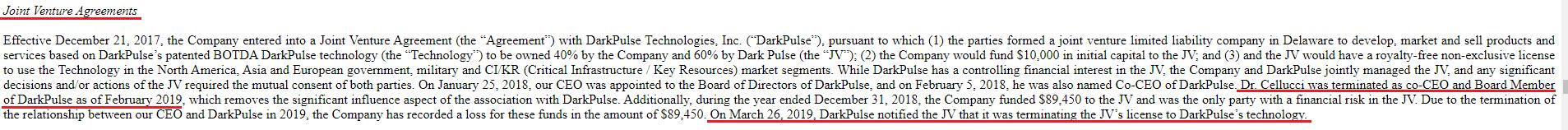 DarkPulse JV Terminate Tom Cellucci