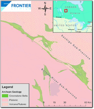 Frontier Lithium Map 1